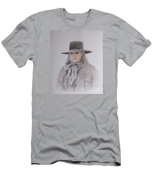 Cowgirl In Hat Men's T-Shirt (Athletic Fit)