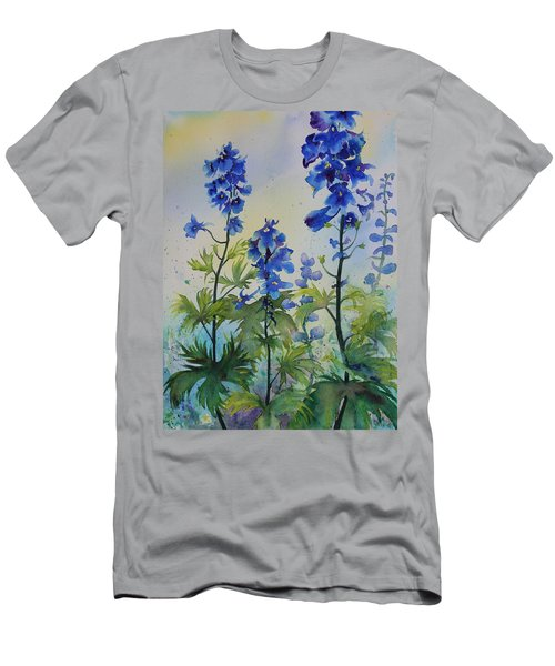 Delphiniums Men's T-Shirt (Athletic Fit)