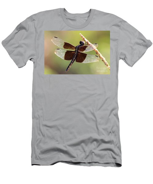 Men's T-Shirt (Slim Fit) featuring the photograph Dragonfly Closeup by Kathy  White