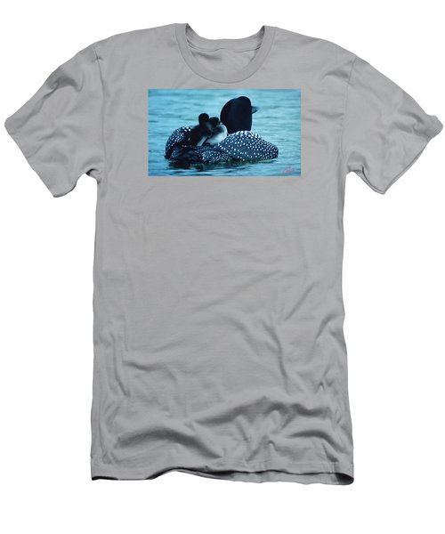 Duck Family Joy In The Lake  Men's T-Shirt (Athletic Fit)