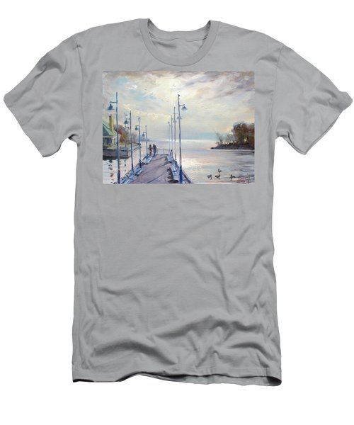 Early Morning In Lake Shore Men's T-Shirt (Athletic Fit)