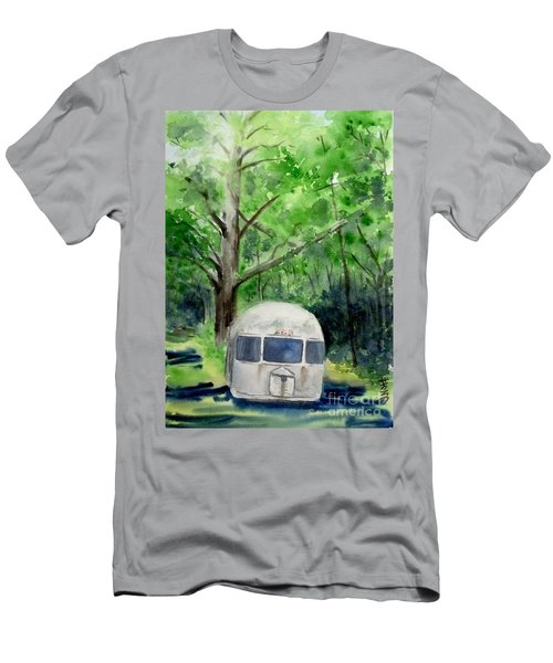 Men's T-Shirt (Slim Fit) featuring the painting Early Summer At The Geddes Farm 1 --ann Arbor  Michigan by Yoshiko Mishina