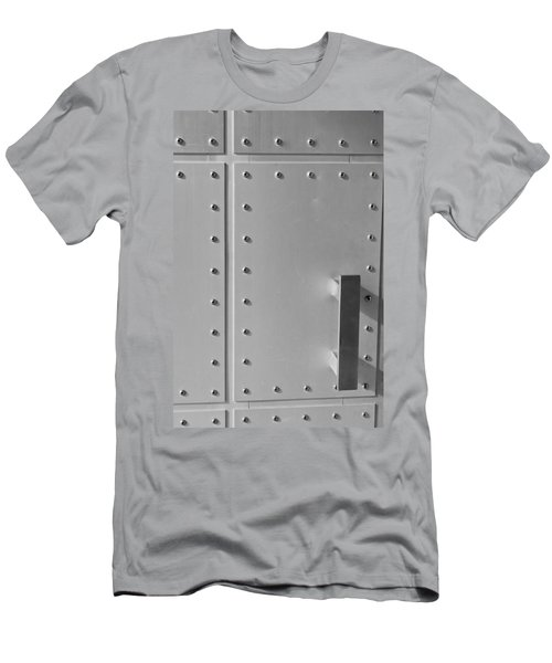 Entrance Secured Men's T-Shirt (Slim Fit) by Colleen Coccia