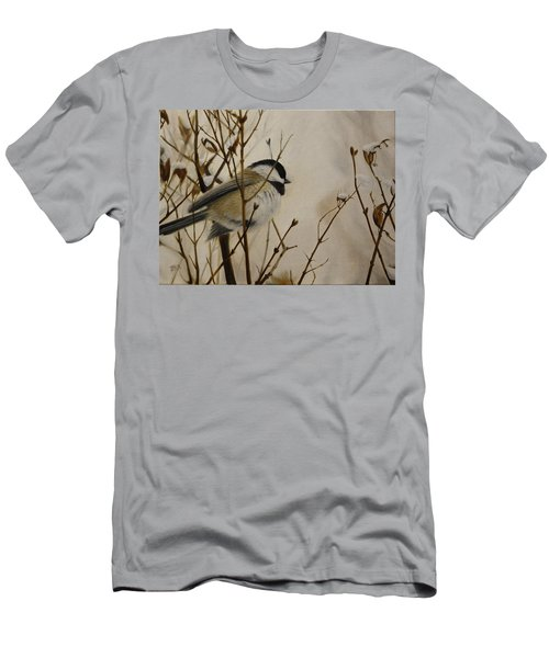 Men's T-Shirt (Athletic Fit) featuring the painting Faithful Winter Friend by Tammy Taylor