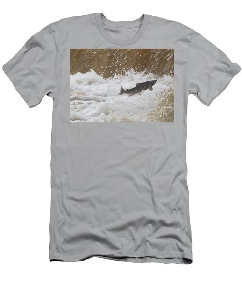 Fish Jumping Upstream In The Water Men's T-Shirt (Athletic Fit)