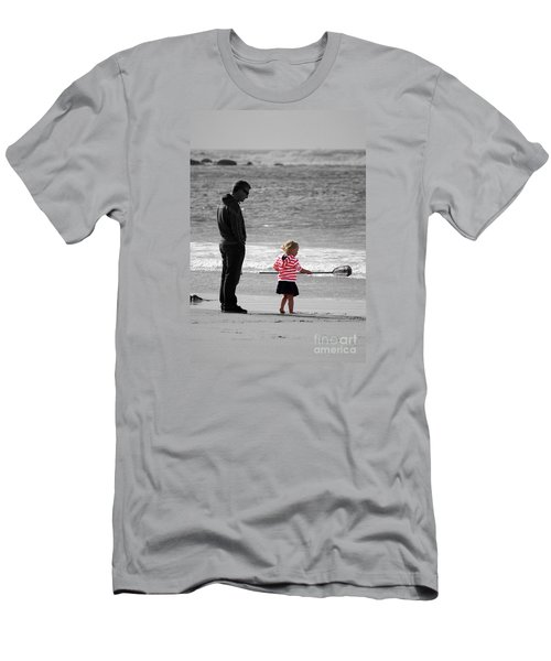 Men's T-Shirt (Slim Fit) featuring the photograph Fish With Me Daddy by Terri Waters