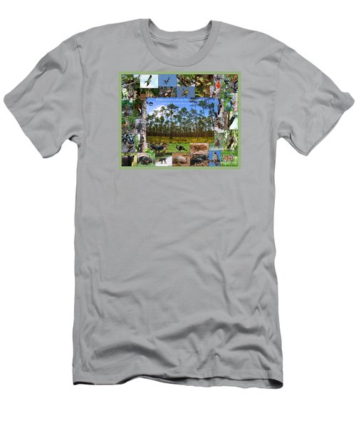 Florida Wildlife Photo Collage Men's T-Shirt (Slim Fit) by Barbara Bowen