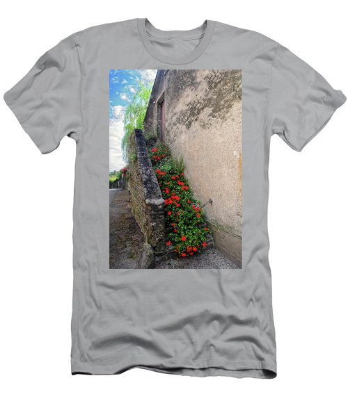 Men's T-Shirt (Slim Fit) featuring the photograph Flower Stairway by Dave Mills