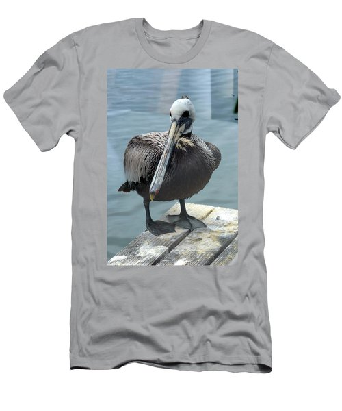 Friendly Pelican Men's T-Shirt (Slim Fit) by Carla Parris