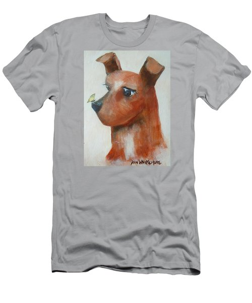 Men's T-Shirt (Slim Fit) featuring the painting Friends Are Friends by Dan Whittemore