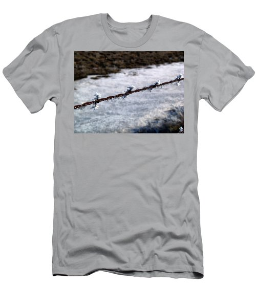 Frosty Barb Wire Men's T-Shirt (Athletic Fit)