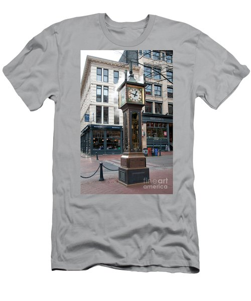 Gastown Steam Clock Men's T-Shirt (Slim Fit) by Carol Ailles