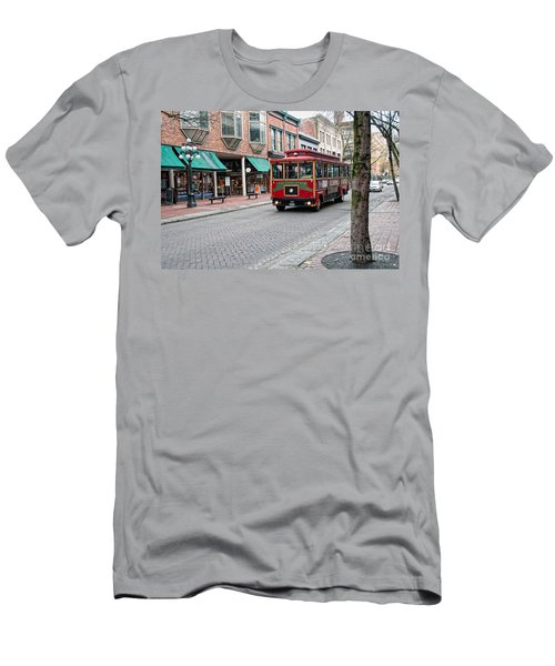 Gastown Street Scene Men's T-Shirt (Slim Fit) by Carol Ailles