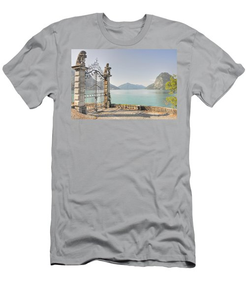 Gate On The Lake Front Men's T-Shirt (Athletic Fit)