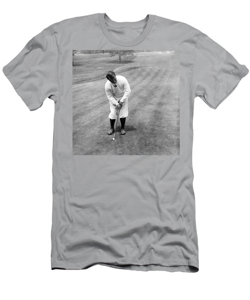 Men's T-Shirt (Slim Fit) featuring the photograph Gene Sarazen Playing Golf by International  Images