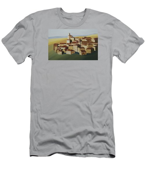Cubist Village Spain Men's T-Shirt (Athletic Fit)