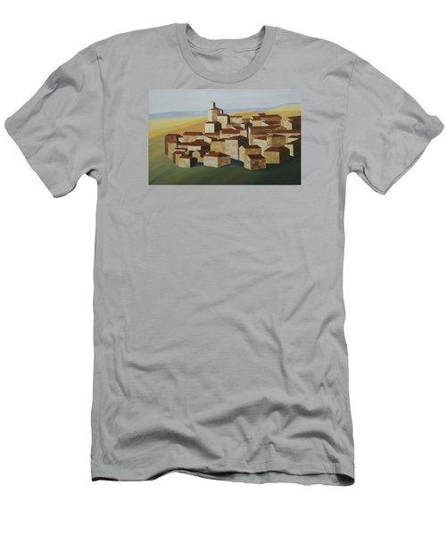 Cubist Village Spain Men's T-Shirt (Athletic Fit)