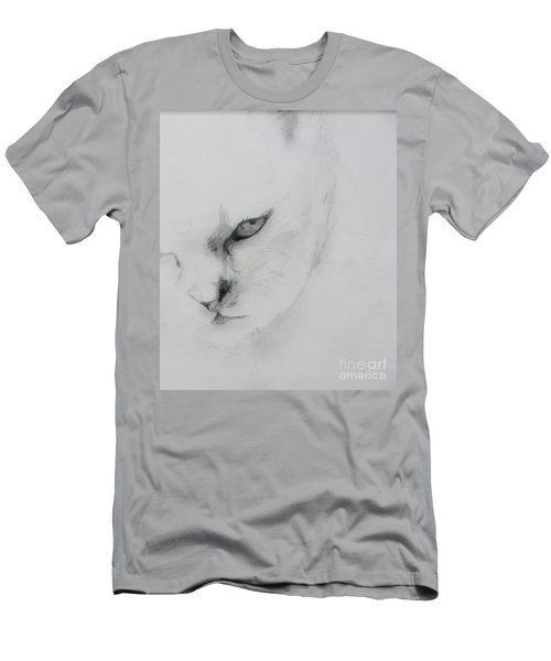 Ghost Cat Men's T-Shirt (Athletic Fit)