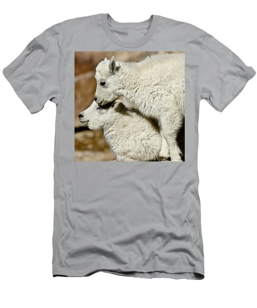 Goat Babies Men's T-Shirt (Slim Fit) by Colleen Coccia