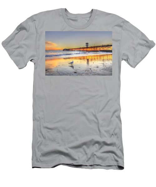 Golden Sunset With Bird Men's T-Shirt (Athletic Fit)