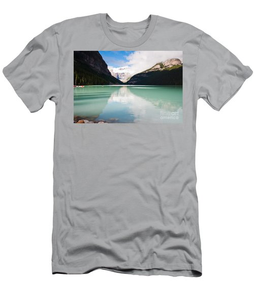 Men's T-Shirt (Slim Fit) featuring the photograph Gorgeous Lake Louise by Cheryl Baxter