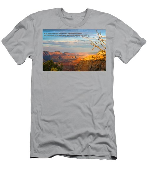 Grand Canyon Splendor - With Quote Men's T-Shirt (Athletic Fit)