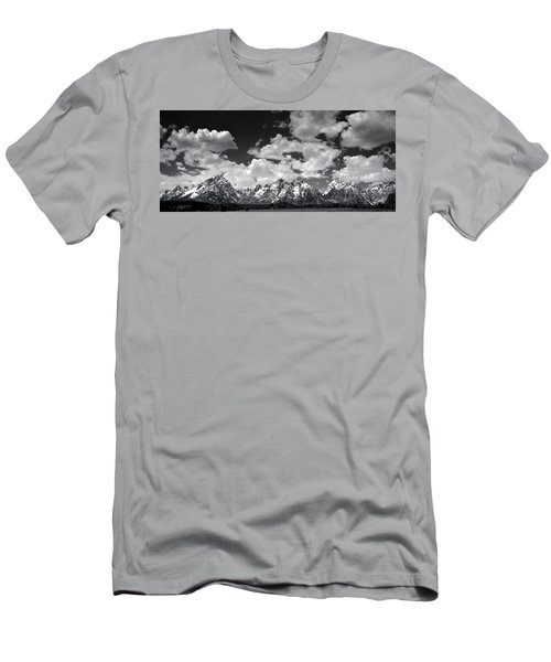 Grand Tetons Panorama In Monochrome Men's T-Shirt (Athletic Fit)