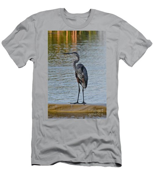 Men's T-Shirt (Slim Fit) featuring the photograph Great Blue Heron by Carol  Bradley
