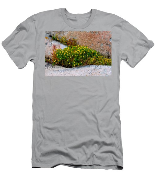 Men's T-Shirt (Slim Fit) featuring the photograph Growing In The Cracks by Brent L Ander