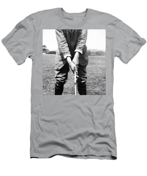 Men's T-Shirt (Slim Fit) featuring the photograph Harry Vardon Displays His Overlap Grip by International  Images