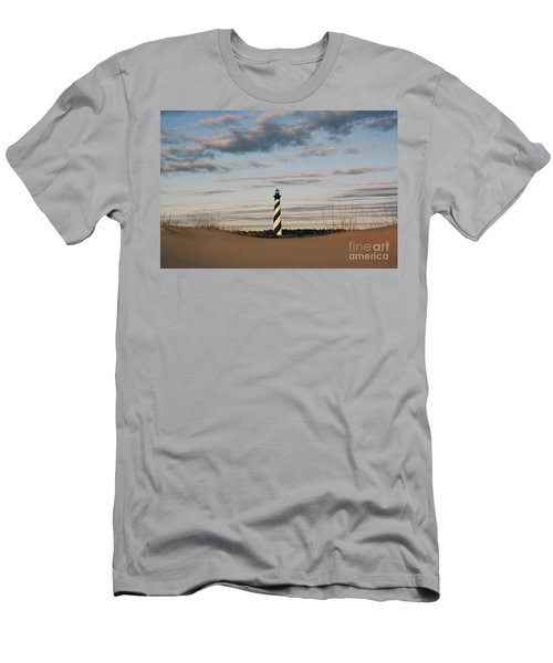 Hatteras Lighthouse And The Smiling Dune Men's T-Shirt (Slim Fit) by Tony Cooper