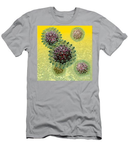 Hepatitis B Virus Particles Men's T-Shirt (Athletic Fit)