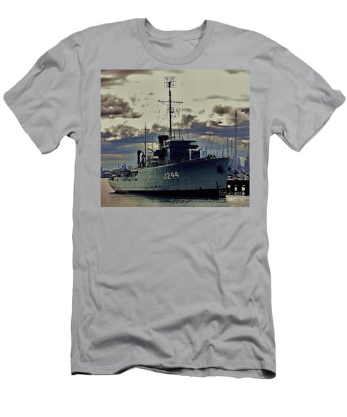 Men's T-Shirt (Slim Fit) featuring the photograph Hmas Castlemaine 1 by Blair Stuart