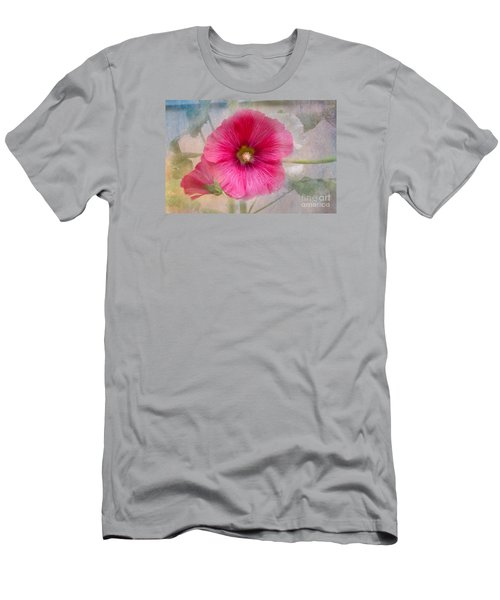 Hollyhock Men's T-Shirt (Slim Fit) by Lena Auxier