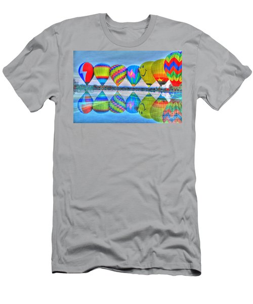 Hot Air Balloons At Eden Park Men's T-Shirt (Athletic Fit)