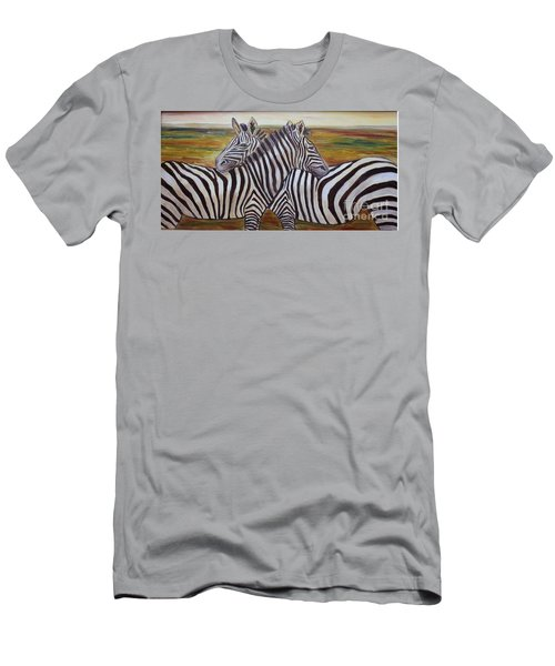 Men's T-Shirt (Slim Fit) featuring the painting I Think Its This Way by Julie Brugh Riffey