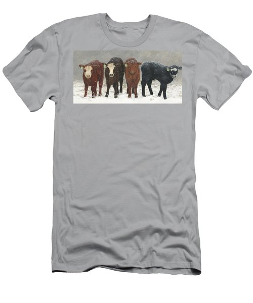 Men's T-Shirt (Athletic Fit) featuring the painting Inquisitive Calves by Tammy Taylor