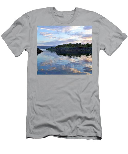 Men's T-Shirt (Slim Fit) featuring the photograph Inverkip Marina by Lynn Bolt