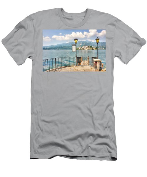 Island San Giulio On Lake Orta Men's T-Shirt (Athletic Fit)