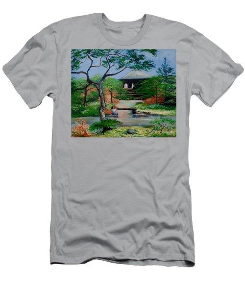 Jardin Japonais  Men's T-Shirt (Athletic Fit)