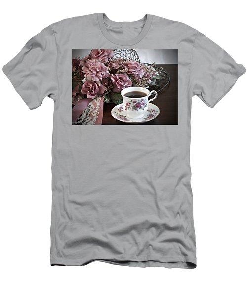 Ladies Tea Time Men's T-Shirt (Slim Fit) by Sherry Hallemeier