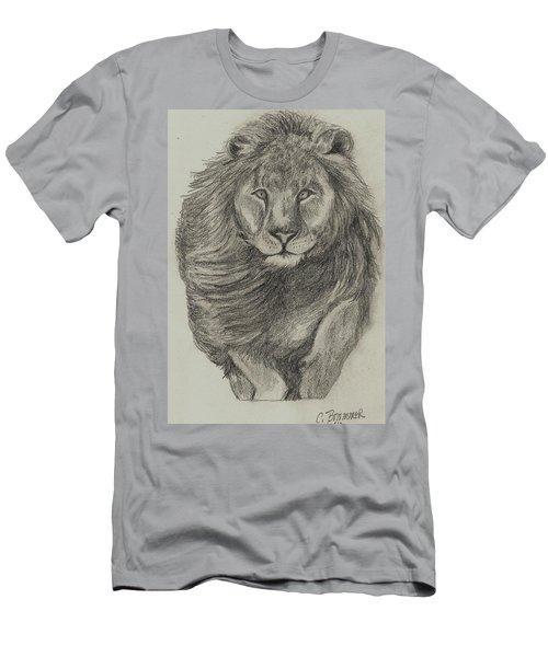Lion Men's T-Shirt (Slim Fit) by Christy Saunders Church
