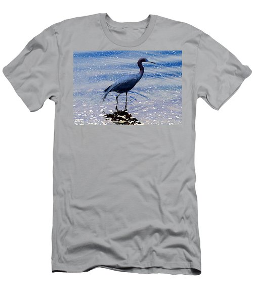 Men's T-Shirt (Slim Fit) featuring the photograph Lit'l Blue by Elizabeth Winter