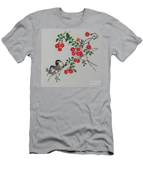 Men's T-Shirt (Slim Fit) featuring the painting Love by Sonali Gangane