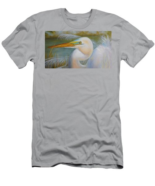 Men's T-Shirt (Slim Fit) featuring the painting Marsh Master by Marlyn Boyd