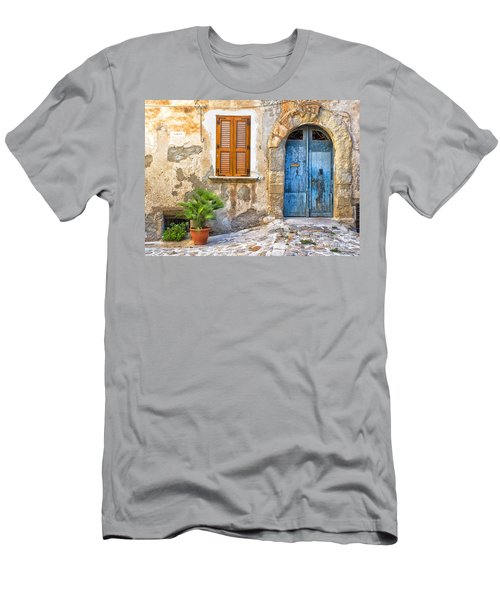 Mediterranean Door Window And Vase Men's T-Shirt (Athletic Fit)