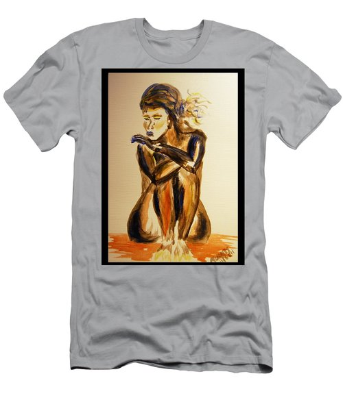 Melancholy Men's T-Shirt (Slim Fit) by Angela Murray
