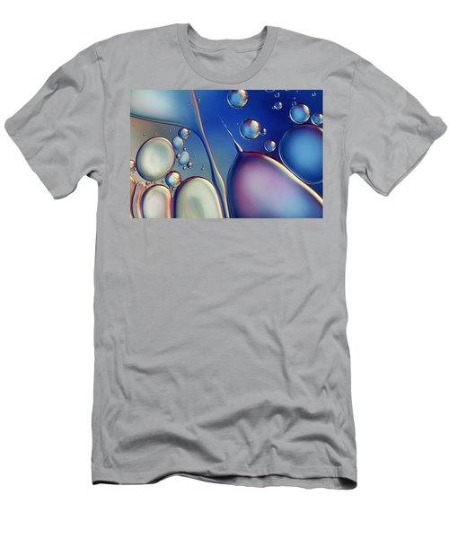 Midnight Blue Bubble Abstract Men's T-Shirt (Athletic Fit)