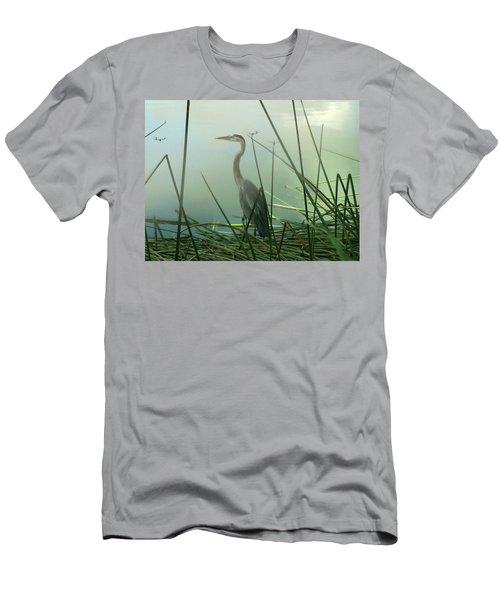 Misty Blue Men's T-Shirt (Athletic Fit)
