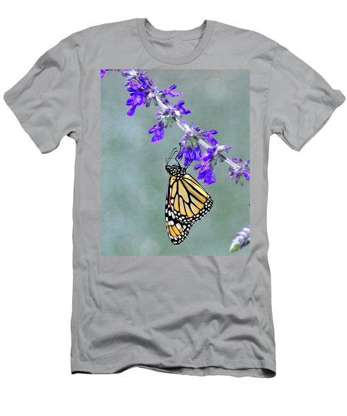 Monarch On Purple Men's T-Shirt (Athletic Fit)